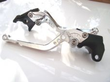 KTM 690 ENDURO R (14-15), CNC levers long silver/chrome adjusters, DB12/A90
